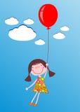 Mädchen mit Ballon Lizenzfreies Stockfoto