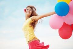 Mädchen mit Ballonen Lizenzfreies Stockbild