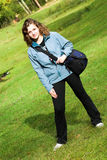 Mädchen mit Beutel Lizenzfreies Stockfoto