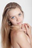 Mädchen mit blauen Augen Lizenzfreie Stockbilder