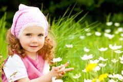 Mädchen mit Blume Lizenzfreies Stockfoto