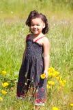 Mädchen mit Blume Stockfotografie