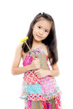 Mädchen mit Blume Stockfoto