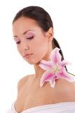 Mädchen mit Blume Lizenzfreie Stockfotografie
