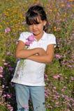 Mädchen mit Blumen Stockfoto