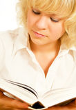 Mädchen mit Buch Stockfotos