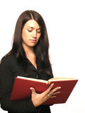 Mädchen mit Buch Lizenzfreies Stockbild