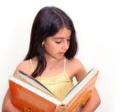 Mädchen mit Buch Stockbilder
