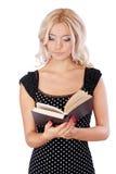Mädchen mit Buch Stockbild