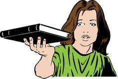 Mädchen mit Buch Lizenzfreie Stockfotos