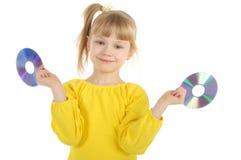 Mädchen mit Cd Lizenzfreies Stockbild