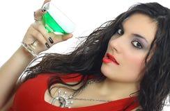 Mädchen mit Cocktail Lizenzfreie Stockbilder