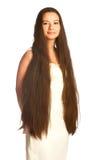 Mädchen mit dem langen Haar Lizenzfreie Stockfotos