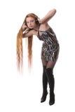 Mädchen mit dem langen Haar Lizenzfreies Stockbild