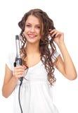 Mädchen mit dem lockigen Haar lizenzfreie stockfotografie