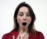 Mädchen mit dem Mund geöffnet Stockfotografie