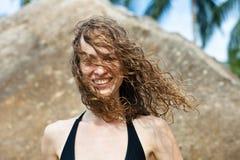 Mädchen mit dem nassen Haar Lizenzfreies Stockfoto