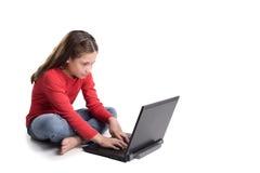 Mädchen mit dem Notizbuch Stockfotografie