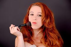 Mädchen mit dem roten Haar Lizenzfreies Stockfoto