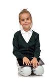 Mädchen mit digitaler Tablette lizenzfreie stockbilder