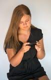 Mädchen mit Digitalkamera Stockfotos