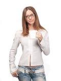 Mädchen mit einem Cup Lizenzfreies Stockfoto