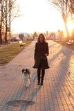 Mädchen mit einem Hund Lizenzfreies Stockbild