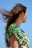 Mädchen mit einem langen Haar Lizenzfreie Stockfotos