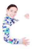 Mädchen mit einem Panel Lizenzfreies Stockfoto