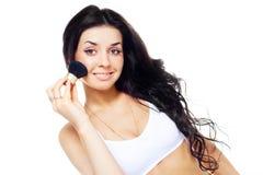 Mädchen mit einem Pinsel lizenzfreies stockfoto