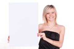 Mädchen mit einem Plakat lizenzfreies stockfoto