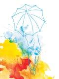 Mädchen mit einem Regenschirm Lizenzfreie Stockfotos