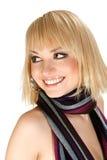 Mädchen mit einem Schal Stockbild