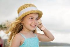 Mädchen mit einem Shell Stockbilder