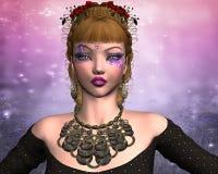 Mädchen mit einem ungewöhnlichen Make-up Stockfoto