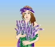 Mädchen mit einer Blume Lizenzfreies Stockfoto