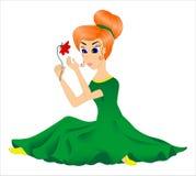 Mädchen mit einer Blume Stockbild