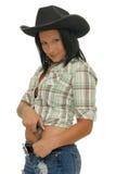 Mädchen mit einer Gewehr Lizenzfreies Stockfoto