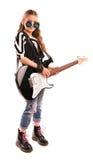 Mädchen mit einer Gitarre Stockfotografie
