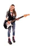 Mädchen mit einer Gitarre Stockfoto