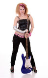 Mädchen mit einer Gitarre Lizenzfreies Stockbild