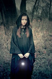 Mädchen mit einer Lampe Lizenzfreie Stockfotografie