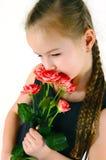 Mädchen mit einer Rose Lizenzfreie Stockfotos