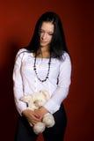 Mädchen mit einer Spielzeugmaus Lizenzfreies Stockfoto