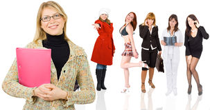 Mädchen mit Faltblatt Lizenzfreies Stockbild