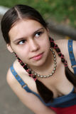 Mädchen mit Flechten Stockfotografie
