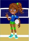 Mädchen mit Flugball stockbilder