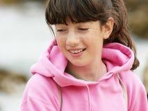 Mädchen mit Freckles stockfoto