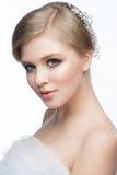 Mädchen mit Frisur und Make-up Stockfotografie