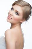 Mädchen mit Frisur und Make-up Lizenzfreies Stockbild
